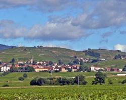 Le village de Fleurie en Beaujolais, près de Mâcon et Lyon