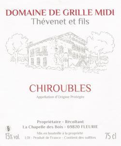 Achat vin Chiroubles, viticulteur près de Mâcon, Lyon